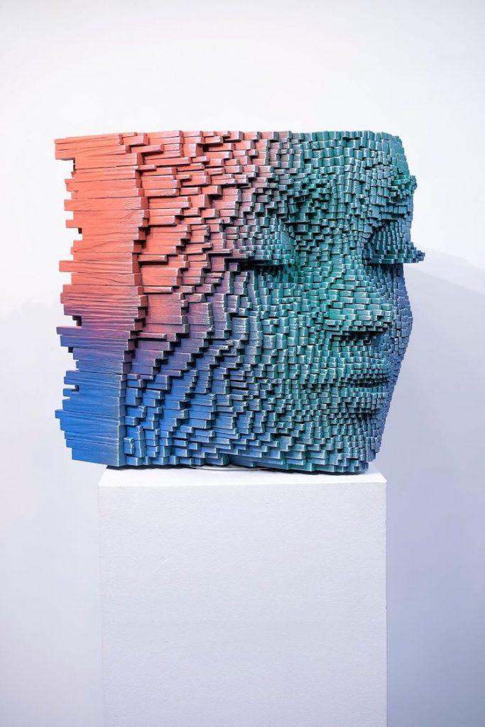 像素化木雕