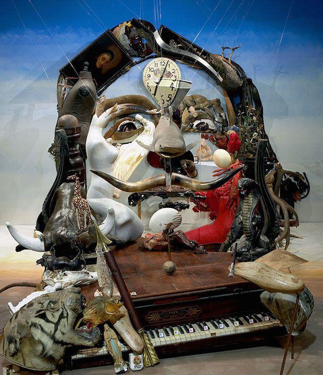 垃圾藝術,梵谷,達利,肖像畫,浮世繪,自畫像,孟克吶喊,名畫,城市美學新態度