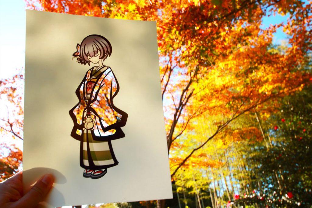剪紙,和服,自然風景,鏤空,四季,色彩,攝影,藝術,城市美學新態度