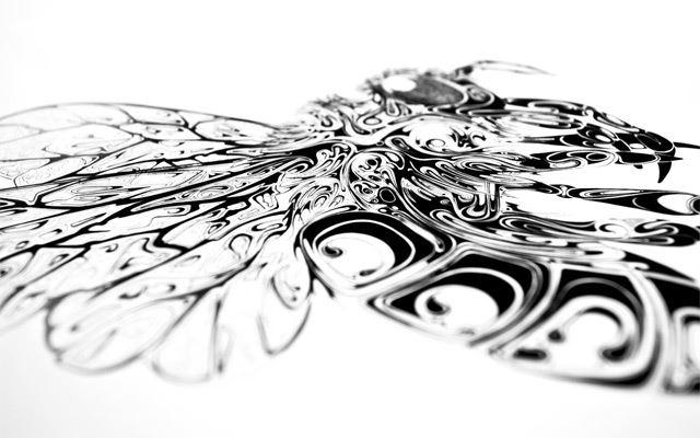 [ad#ad-2] 只要一隻鋼筆與墨水就能創作!英國藝術家 Si Scott 擅長描繪俱有流動感的生態插畫,他將液態的紋路呈現於生物的形體之中,使其兼具立體感與線條美,從動物到小昆蟲,在 Si Scott 的筆觸下總是變得栩栩如生有如浮出畫面般,強烈的個人特色讓 Si Scott 有機會與各大品牌如 Nike, Dove, Coca Cola 合作。以下看到的是 Resonate 動物系列的插畫作品。 Si Scott 是全職的藝術創作者、設計師以及設計顧問,他在近期的作品是將 2D 圖像作成 3D 立