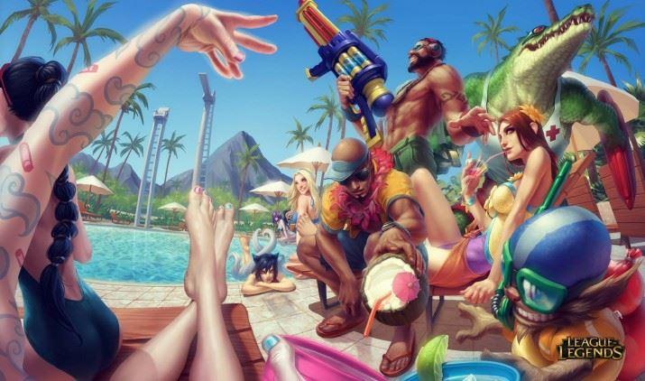 league_of_legends___pool_party__by_alvinlee-d6m0l19