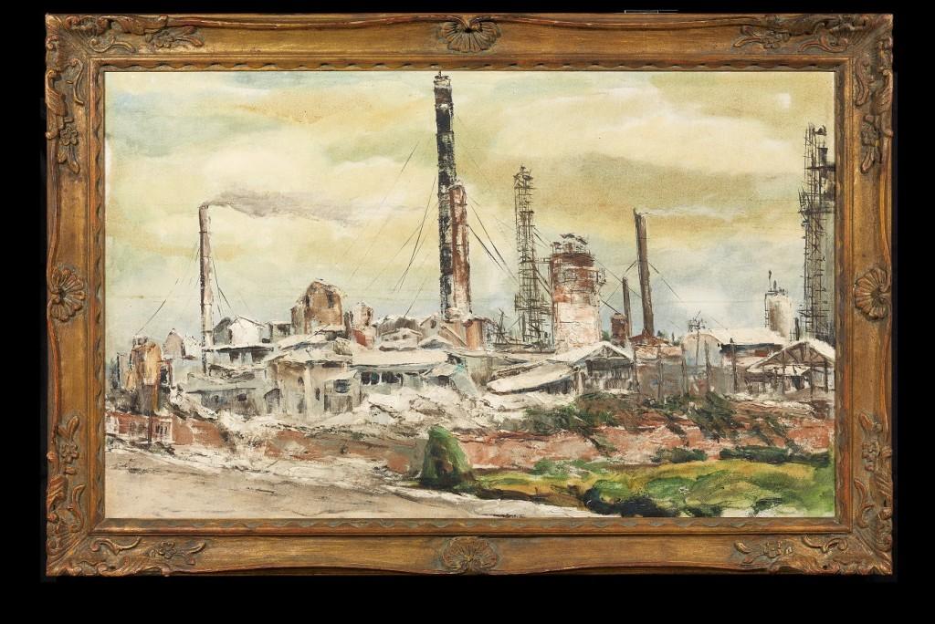 楊梅工廠。1978年。油彩、畫布。圖/徐馨慧提供