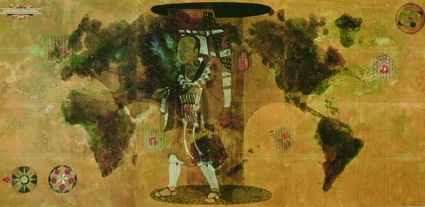 梅丁衍 Dean-E MEI _旋藏法_Rotating Buddha _影像輸出於畫布 _190x90m _2016(藝星藝術中心) _