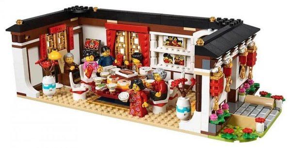 中國樂高年夜飯舞龍