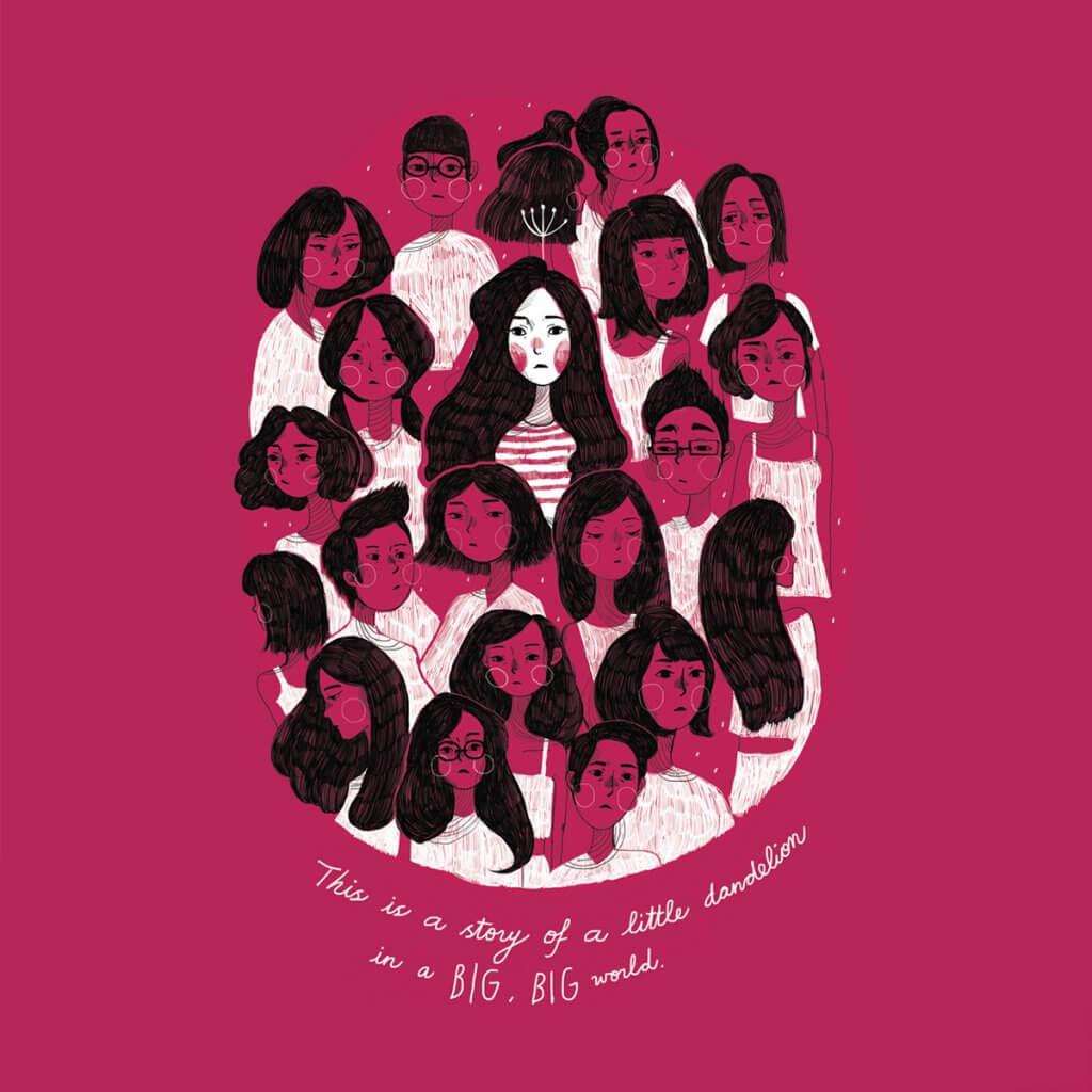 印尼少女療癒插畫