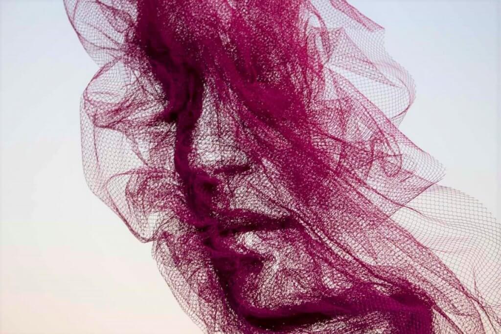 Benjamin Shine,藝術,時尚,薄紗,臉,人物肖像