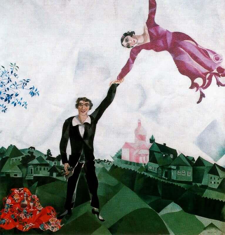 Marc Chagall,夏卡爾,藝術,愛情,神祕學觀藝術,城市美學新態度